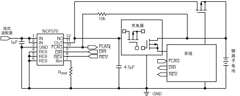 安森美半导体ncp370的典型应用电路图.