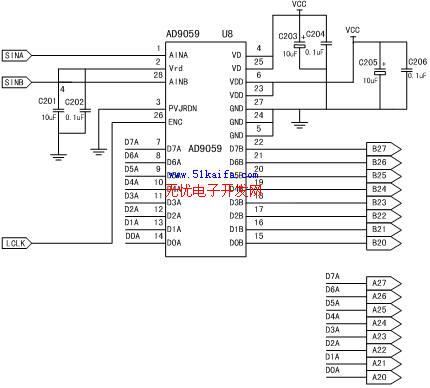 > 正文  图2 高速数据采集系统原理图    在此系统中,高频模拟信号线