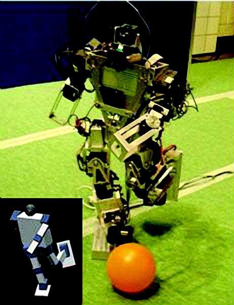 技术应用 针对新步态研究而开发的完全自主型仿人机器人 成为美国首个参加RoboCup 机器人世界杯足球赛 的仿人机器人