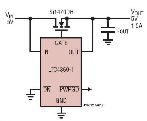 具 80V 过压保护能力的 5V 系统