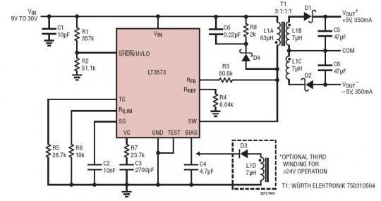 无需借助第三个绕组或光隔离器来实现稳压.
