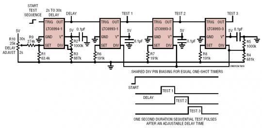序列脉冲检测器的电路图