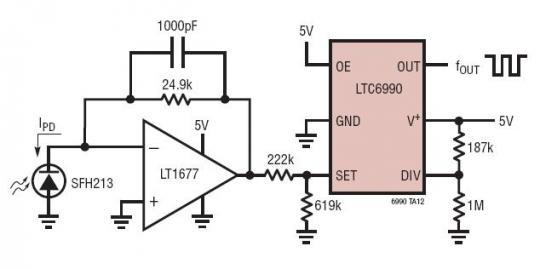 该器件可用作一个固定频率或电压控制型振荡器 (vco).