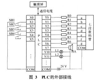 抢答器中的plc的外部接线图