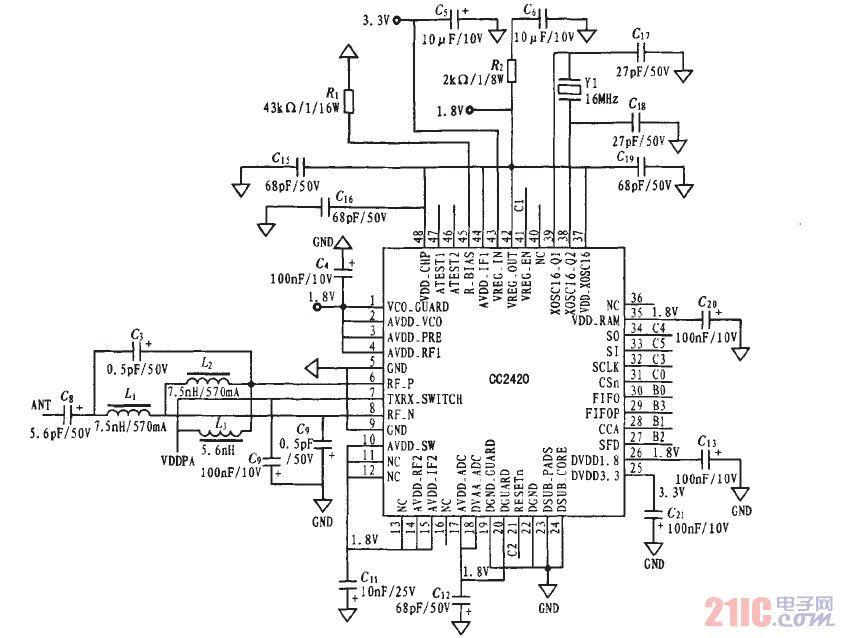 图3为功放电路图.
