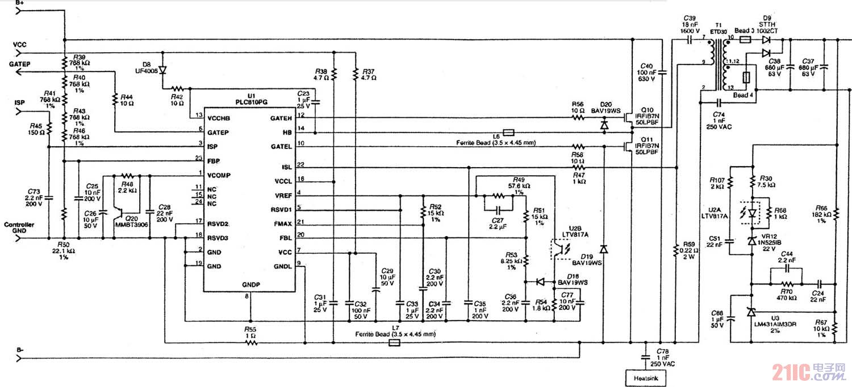 基于plc810pg控制ic的led路灯驱动电路