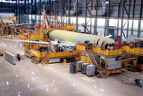 空中客车a320系列飞机天津总装线正式投产运营
