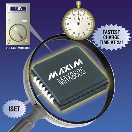 Maxim推出MAX8685系列氙闪光灯充电器