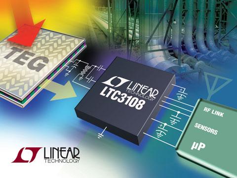 凌力尔特推出高度集成的升压型 DC/DC 转换器 LTC3108