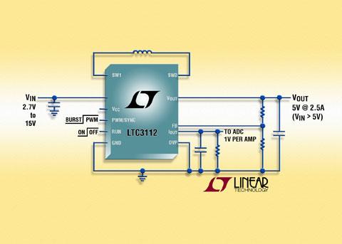 凌力尔特公司推出同步降压升压整流器 LTC3112
