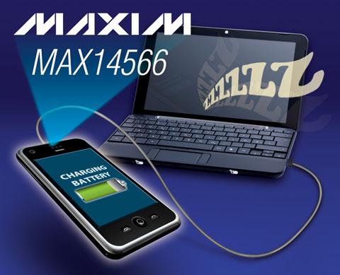 maxim推出结构紧凑的usb充电器识别开关