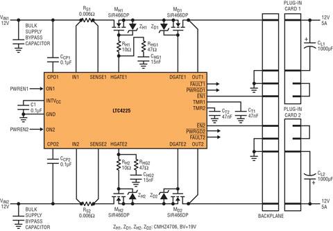 理想二极管和热插拔控制器