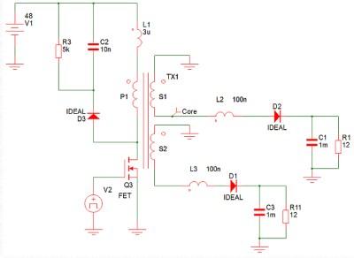 33a时6v)和3类双输出隔离反激式转换器,以作为使用同步整流器的反激式